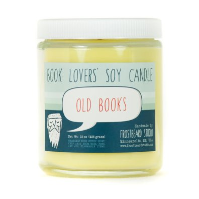 'old books' candle